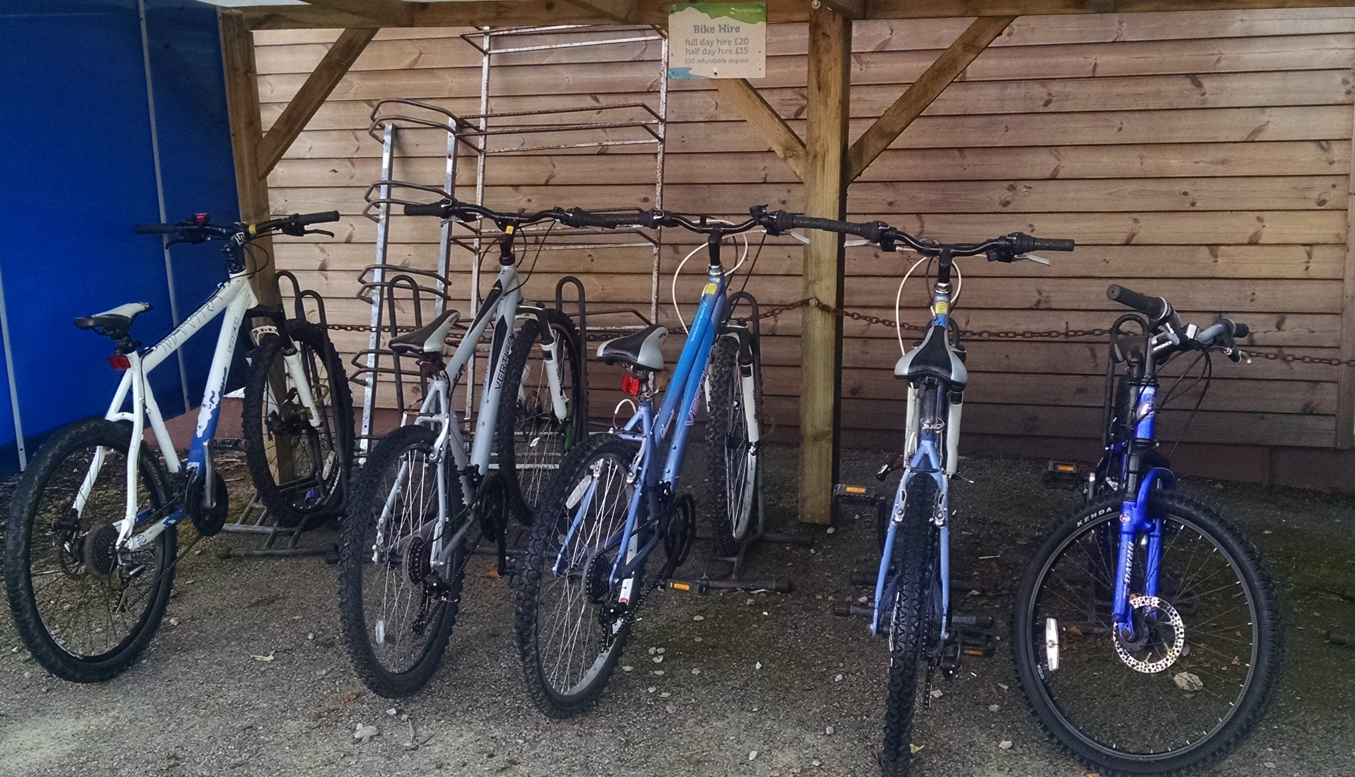 Bike rental shed Hunters Quay